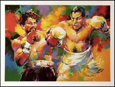"Malcolm Farley ""Camacho vs.Duran"" boxing offset lithograph Make an Offer L@@K"