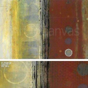 """36W""""x24H"""" ENOUGH TIME by ALAN MAZZETTI COLORFUL STRIPES PAINT SPLATTER CANVAS"""