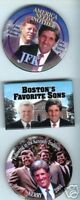 3 pins John Robert Ted KENNEDY + John KERRY