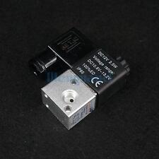 """DC12V 3V1-06 3 Port 2 Position 1/8"""" BSP NC Solenoid Air Valve Coil Led"""