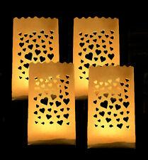 4 x Lichtertüten Leuchttüten Lichttüte Lichttüten Lichtertüte mit Herz Herzmotiv