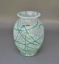 Art Deco Loetz Schaumglas Vase mit grünen Faden-Einschmelzungen