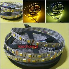 New 5M 5630 60Leds/M White+Warm White DC12V adjustable Dimmable LED Strip Light