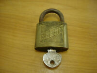 Vintage Reese Padlock W Key Working condition Hash 1 1/4 inches Working