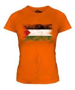 Palestina Distressed Flagge Damen T-Shirt Top Filastin Palästinensische Geschenk