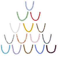 25pcs 10mm Faceted Rondelle Crystal Glass Loose Spacer Beads DIY Bracelet Gifs