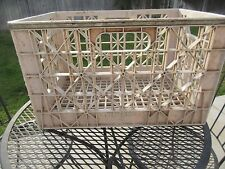 Vintage Jerseymaid Dairy Plastic Large Milk Crate Dairy Steel Band