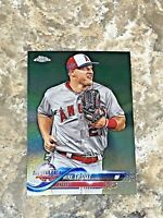 2018 Topps Chrome Update Mike Trout #HMT69 Los Angeles Angels MLB Baseball Card