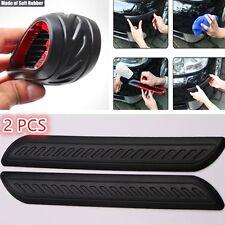 2Pcs Universal Car Door Body Bumper Guard Corner Protector Rubber Moulding Strip