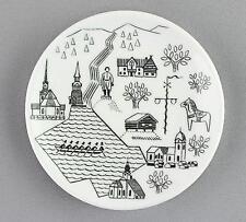 Un pequeño Rorstrand Pin Plato/Placa de Pared. Leksand/Rattvik/Mora. Dala caballo