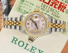 Donna Rosa Diamond Dial in acciaio e oro Rolex Oyster Perpetual Datejust.