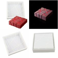 1 pcs silicone 3d geometric square mold cake decorating baking tools chocolate