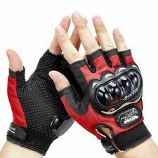 Motorcycle Fingerless Racing Biker Cycling Armor Hard knuckle Half Finger Gloves