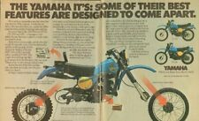 1978 Yamaha IT400 IT250 IT175 Motorcycles 2-Page Vintage Ad