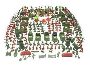 307PCS Soldier Army Men Grenade Tank Aircraft Rocket Sand Scene Kids Model Toy