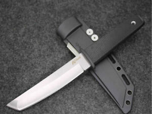 10''New Cold steel Rubber Handlde AUS-8A Steel Camping Hunting Knife CMB11