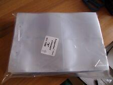 More details for 100 x 4 pockets plastic album cigarette card sleeves  for glen & 2 rng binders
