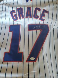 Mark Grace Signed White Chicago Cubs Jersey JSA