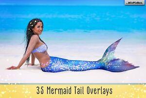 Mermaid Tail Overlays