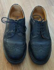 DR MARTENS Womans 8UK Black Leather Lace Up Brogue Wingtip Oxfords Shoes 3989/59