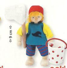 Goki 51625 - Biegepuppe Kind für Puppenhaus Holz