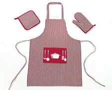 Kitchen Aprons Baking Cooking Crafts BBQ Bib Dress With Mat & Mitten Combo
