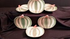 Pumpkin Shaped Plates Harry And David Snack Dessert Display Set of 6