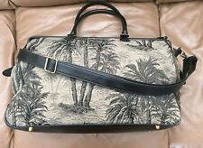 VINTAGE BUENO TRAVEL TOTE TROPICAL TAPESTRY DOCTOR STYLE CATCH ALL BAG b541727ef6877