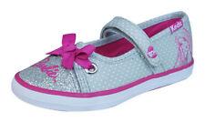 Scarpe grigio medio in tela per bambini dai 2 ai 16 anni