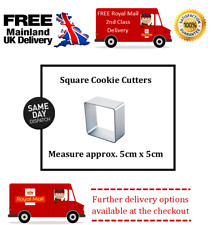 Approx 5cm square cookie cutter for fondant icing cake decorating