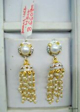 Gold Earrings Diamond Earring Pearl Earrings Handmade Jumki Earrings