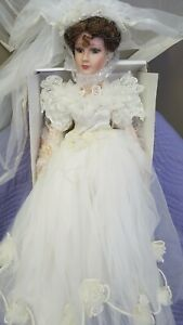 "Show Stoppers, ""Beloved Bride,""  Collectable Porceline Doll, New, 23"" Tall"