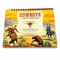 Vintage Cowboy Pop-Up Action 1951 Maxton Horse American Ranch Rodeo Roping Book