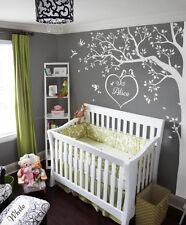 Nursery White tree wall decals , Wall Art corner tree, Wall decoration KW006