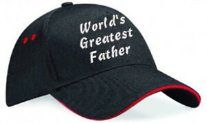 Embroidered World's Greatest........ Black/Red Ultimate Baseball Cap, Ideal Gift