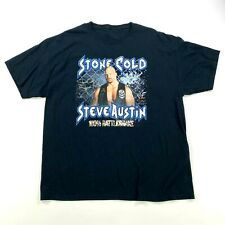 Stone Cold Steve Austin WWF T-Shirt 1998 Hardcore Collection Black Attitude Era