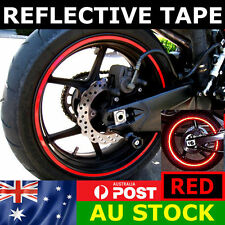 Rim Stickers Red Reflective Tape 6mm Motorcycle Motorbike Car