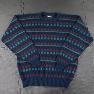 Vintage 80s 90s Vancort Crew Neck Sweater Men's Large Retro Acrylic Made in USA