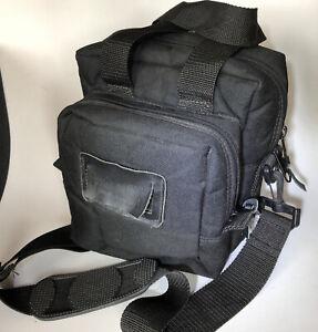 "BAGMASTER Black Nylon Shooting Bag 10""x10""x10"". 3 Zip Padded Pockets"