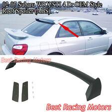 STi Style Rear Roof Spoiler Wing (ABS) Fits 02-07 Subaru Impreza 4dr