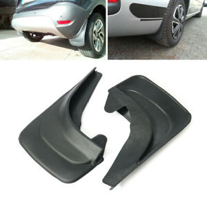 2Pcs Black Universal Car Mud Flaps Splash Guards Mudflaps Mudgurads Fender ABS