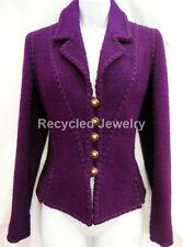 AUTHENTIC CHANEL SEXY FITTED TWEED WOOL JACKET BLAZER COAT SIZE 40 MINT!