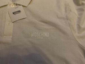 moschino Mens Polo Shirt White XXXL