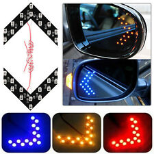 2X 14SMD LED Arrow Panel Car Rear View Mirror Indicator Turn Signal Light 3Color