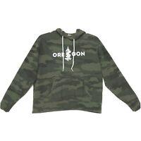 Oregon Camouflage Hoodie Sweat Shirt Womens Size L Large Green