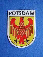 Aufkleber Potsdam Stadtwappen Landeshauptstadt von Brandenburg 8,7 x 6,2