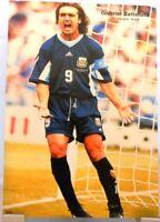 Gabriel Batistuta + Fußball Nationalspieler Argentinien Fan Big Card Edition D86