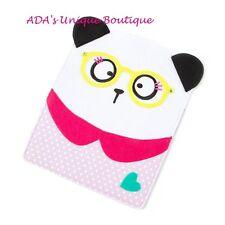 Panda Bear Tablet Case Sturdy Felt Case with Polka Dot & Heart Back Pocket iPad
