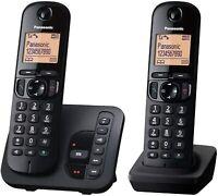 Panasonic Schnurlostelefon mit AB KX-TGC222 Schwarz  Gebraucht