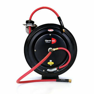 Steelman Enclosed Spring Pneumatic Hose Reel with 35-Foot 3/8 in. Hose 98457-IND